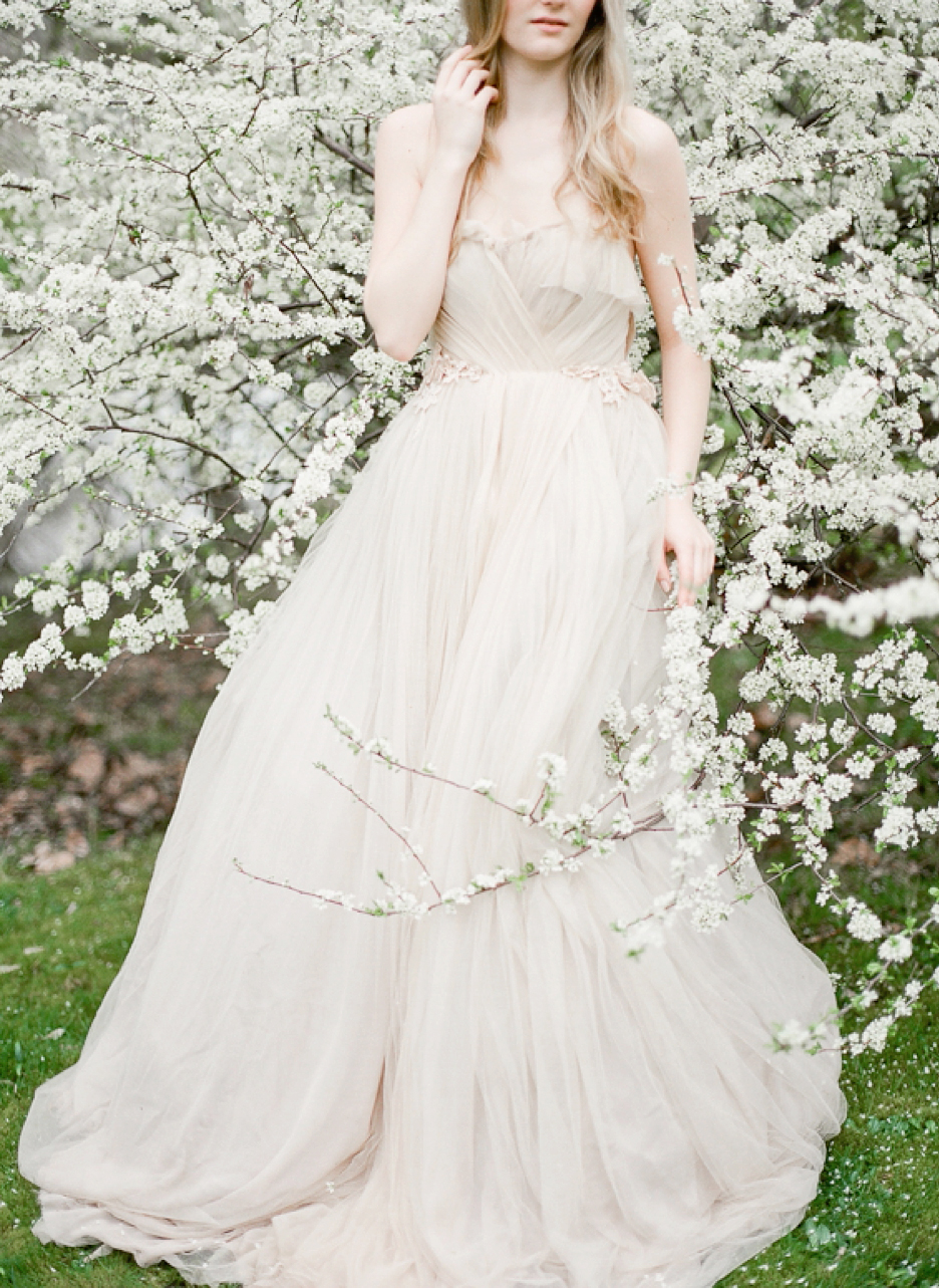 Samuelle Couture Amidst Cherry Blossoms Vasia Photography